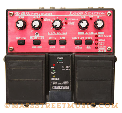 Boss RC-20XL Loop Station Used - top