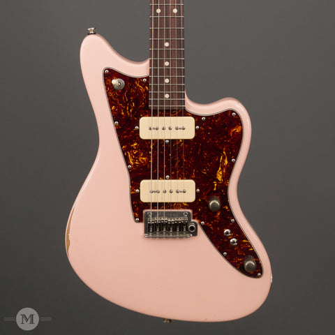 Tom Anderson Electric Guitars - Raven Classic - Shorty Shell Pink - Distress Lvl 2 - Front Close