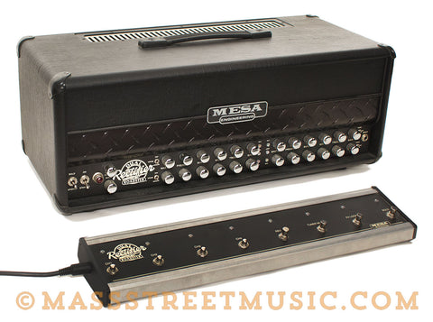 Mesa Engineering Dual Rectifier Roadster 50/100-watt Head Used - angle with footswitch