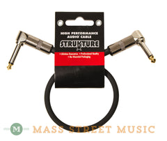 Strukture SC01RR 1 foot Patch Cable, Black - front