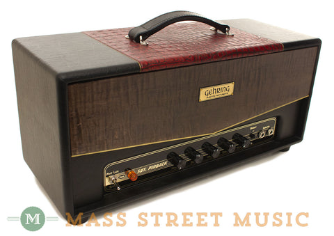 Gehring Sgt. Pinback Amp Head - front angle