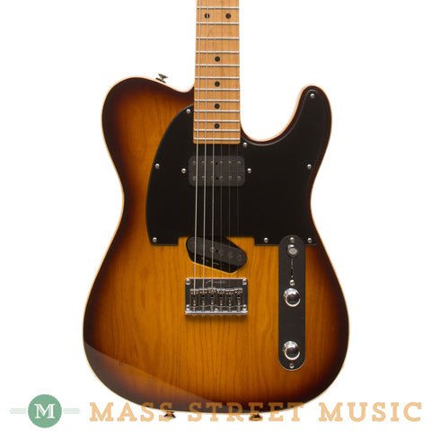 Tom Anderson Electric Guitars - Short Hollow T Classic - Tobacco Burst - Front Close