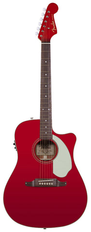 Fender Sonoran SCE Candy Apple Red Acoustic Guitar - stock