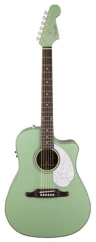 Fender Sonoran SCE Surf Green Acoustic Guitar - front