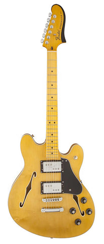 Fender Starcaster electric guitar Natural finish - Front