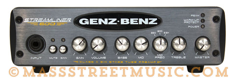 Genz Benz Streamliner 600 Bass Amp Head - front