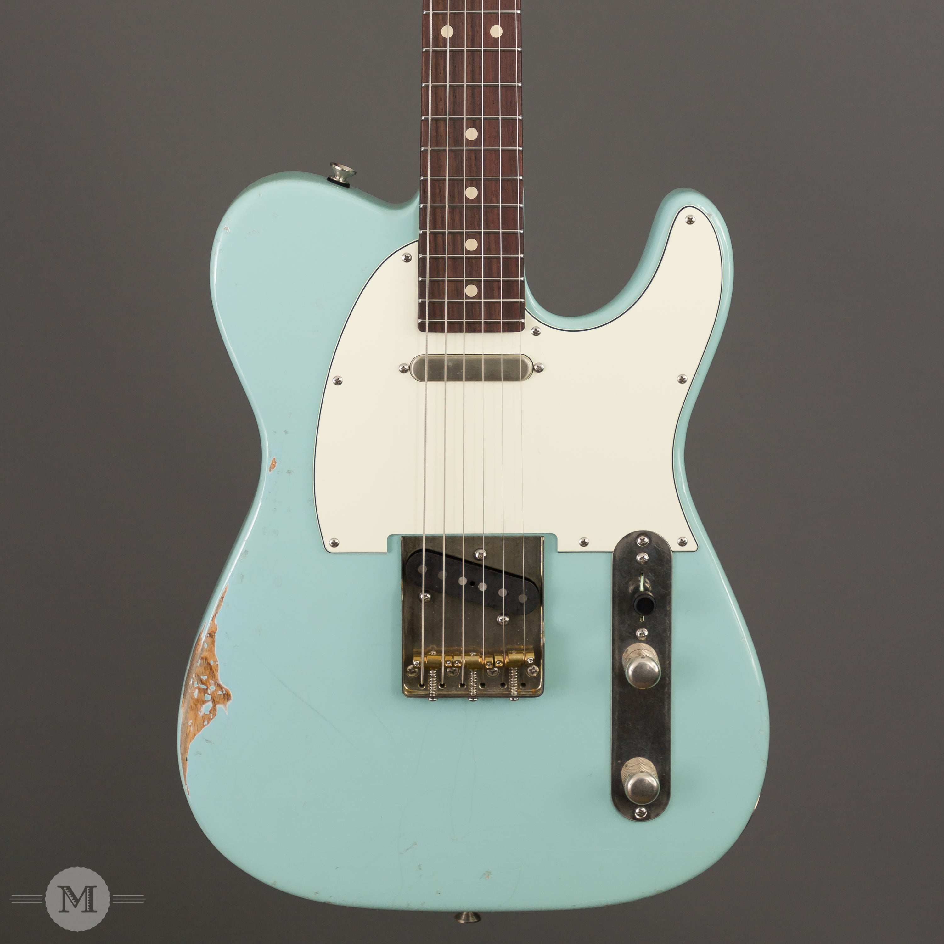 Tom Anderson Electric Guitars - T Icon - Daphne Blue In-Distress Level 2