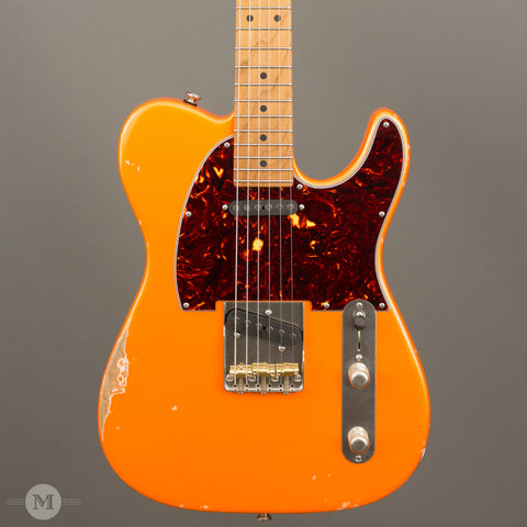 Tom Anderson Electric Guitars - T Icon - Distress Level 3 Tangerine Pearl - Front Close