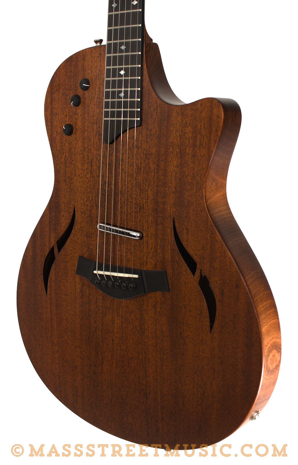 taylor t5x classic mahogany acoustic electric hybrid guitar mass street music store. Black Bedroom Furniture Sets. Home Design Ideas