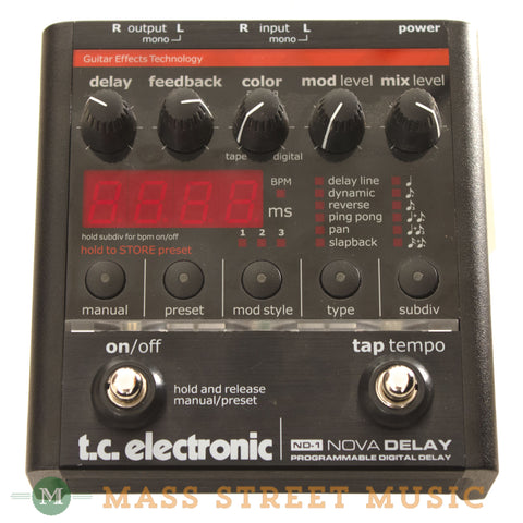 TC Electronic Nova Delay Pedal Used - front