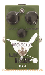Wren and Cuff Tall Font Russian Bass Fuzz Pedal - front