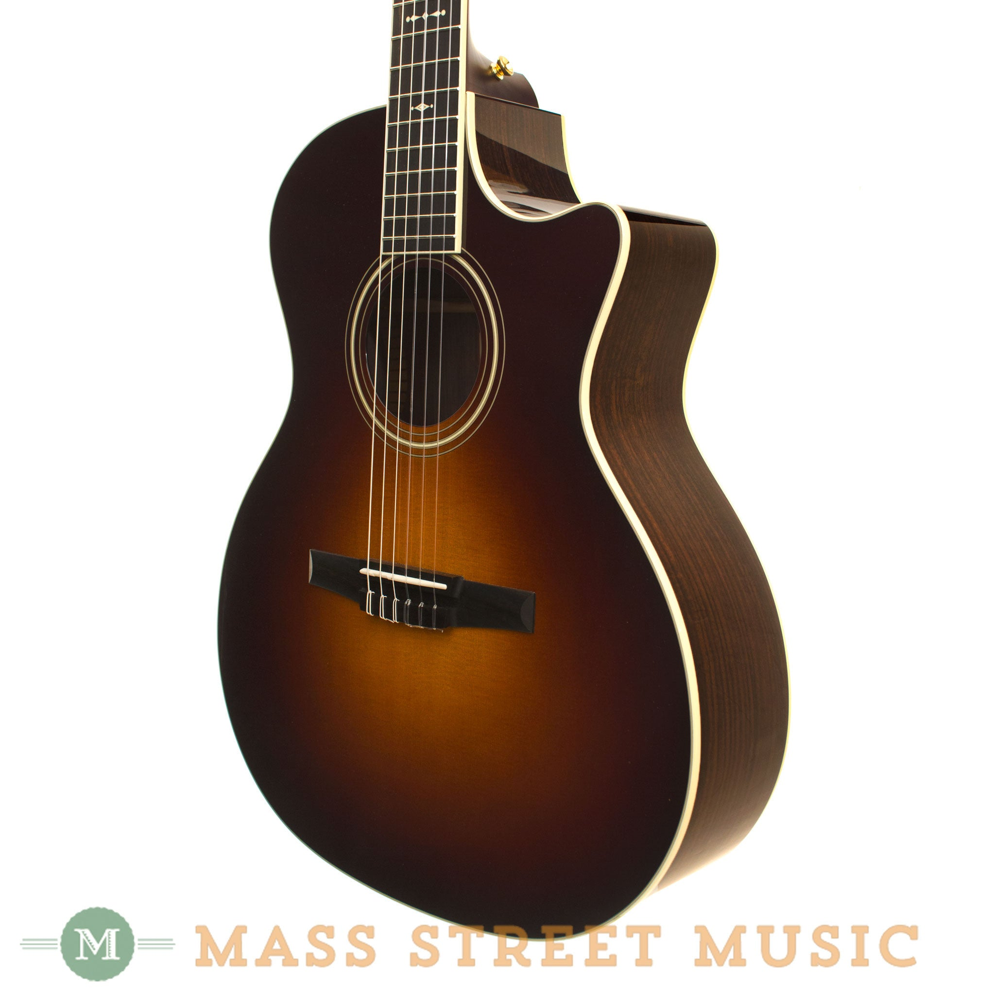 taylor 714ce n nylon string acoustic guitar with case mass street music store. Black Bedroom Furniture Sets. Home Design Ideas