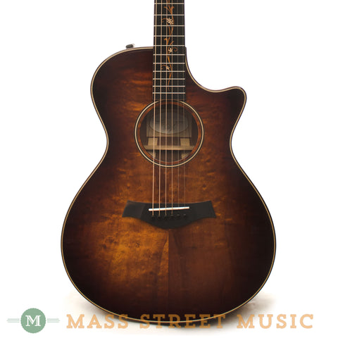 Taylor K22ce Koa Grand Concert Acoustic Guitar - front close