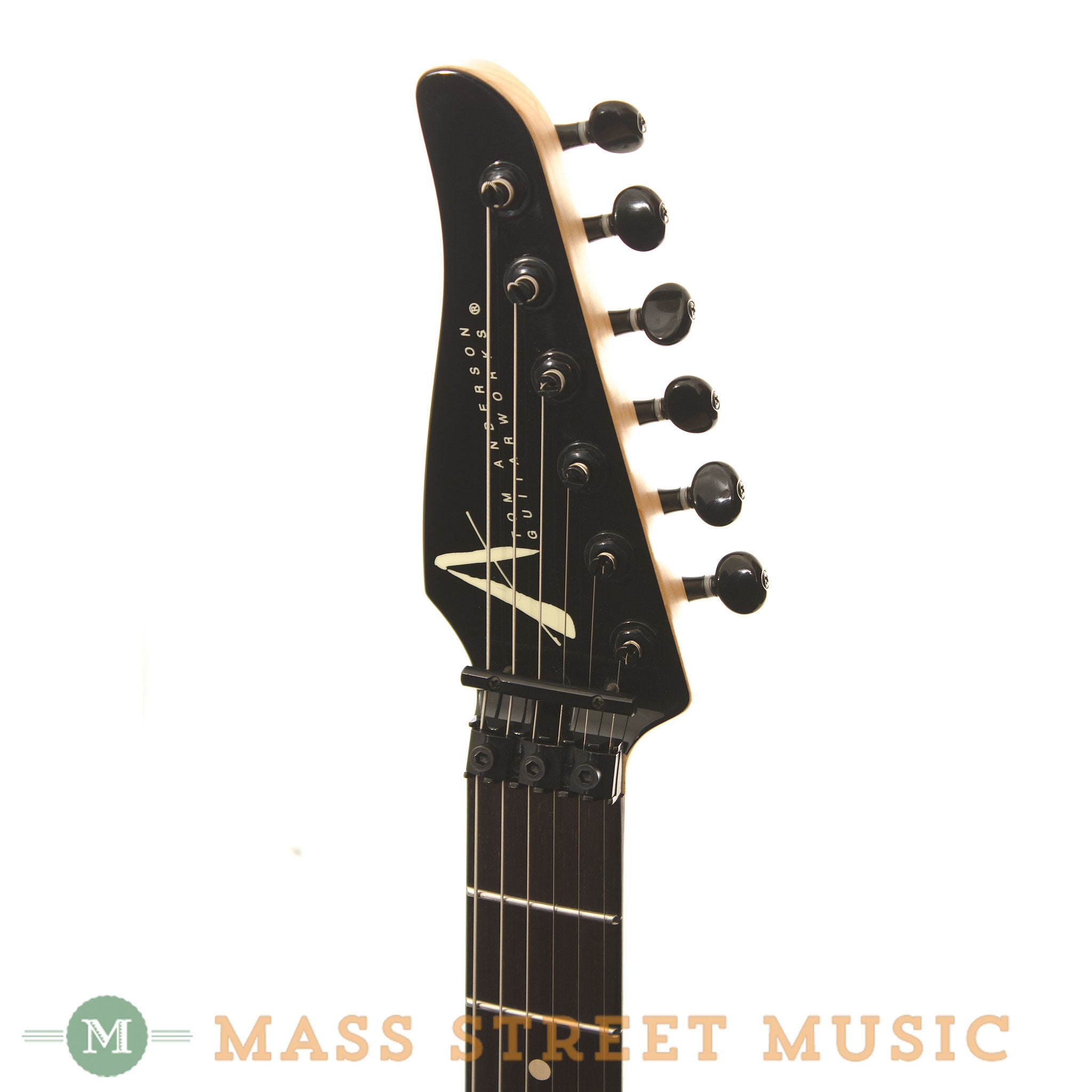 fender bass headstock template - tom anderson angel player with reverse headstock mass