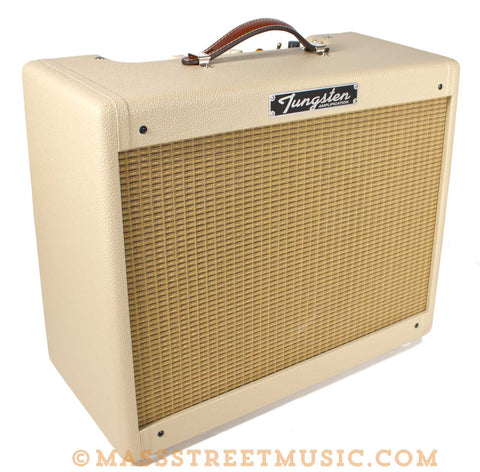 Tungsten Crema Wheat 112 Combo Tweed Style amp - angle