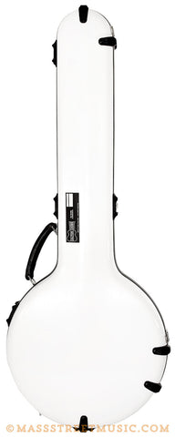 Calton Banjo Case in White with Green - front