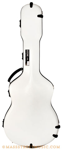 Calton Guitar Case in White w Red - front