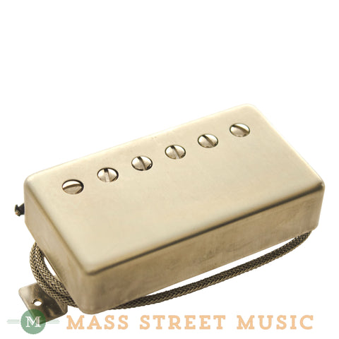 Wolfetone Dr. Vintage Neck Humbucker with Raw Nickel Cover - front