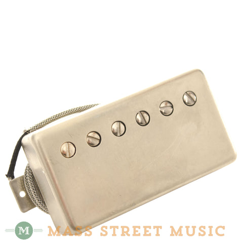 Wolfetone Legends Bridge Humbucker with Raw Nickel Cover - front