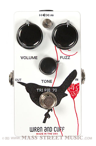 Wren and Cuff Tri-Pie '70 Fuzz pedal - top