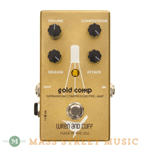 Wren and Cuff Gold Comp Compressor Pedal - front