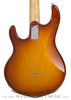Ernie Ball Music Man Silhouette Burst - back close up