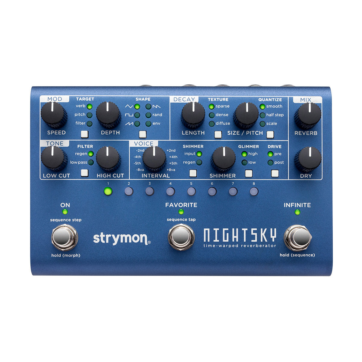 Strymon Effects Pedals - NightSky - Time Warped Reverberator