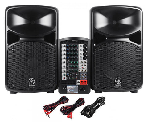 yamaha stagepas 600i 10 channel portable pa system with. Black Bedroom Furniture Sets. Home Design Ideas