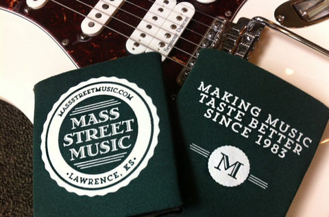 Mass Street Music koozie for beverage