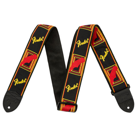 Fender Guitar Strap - Mono Yellow/Red