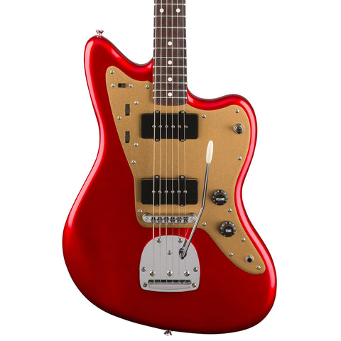 Squier - Deluxe Jazzmaster w/tremolo - Candy Apple Red - Front Close