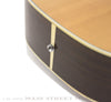 1975 Martin D-35 acoustic guitar endpin close up