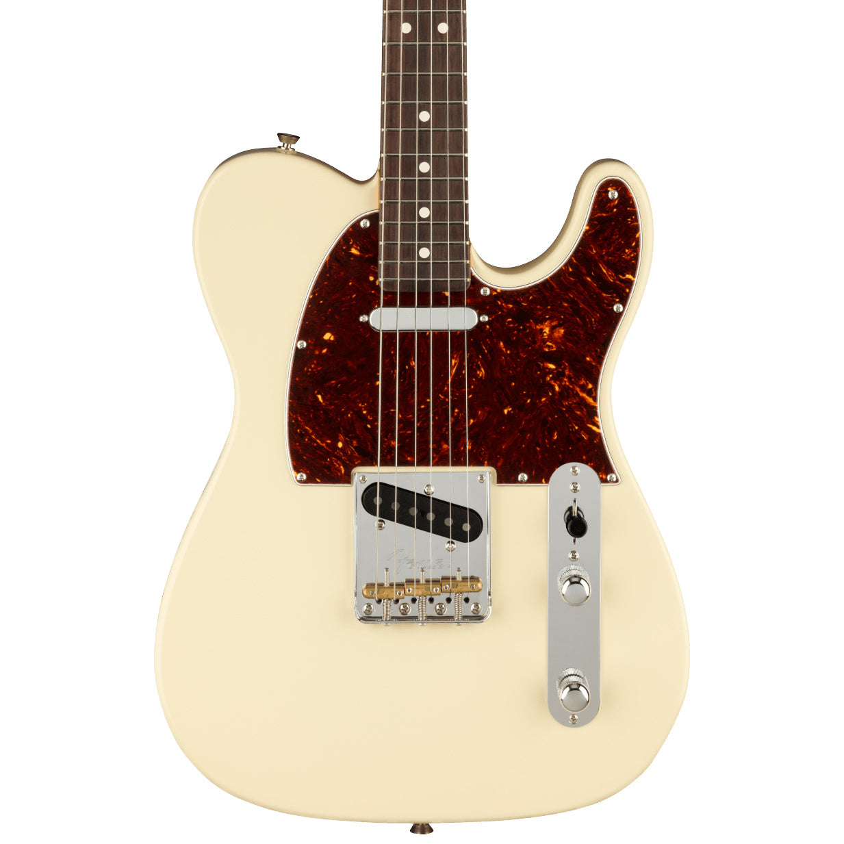Fender Electric Guitars - American Professional II Telecaster - RW Olympic White