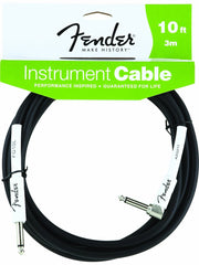 Fender 10' Black Right Angle Instrument Cable