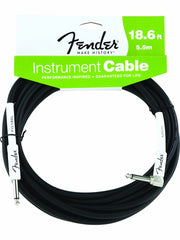 Fender 18.6' Black Right Angle Instrument Cable