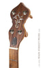 Ome Juniper 12 inch open back banjo - headstock with inlay