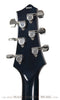 Terry McInturff custom guitar back of headstock of guitar with trans blue finish