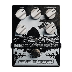 Catalinbread Effect Pedals - Nicompressor Silver Black