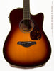 Yamaha FGX720 SCA Acoustic guitar burst finish - front close up