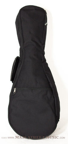 Kala Soprano Uke gig bag black with straps- front