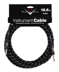 Fender Instrument Cable - 18.6' - Black Tweed