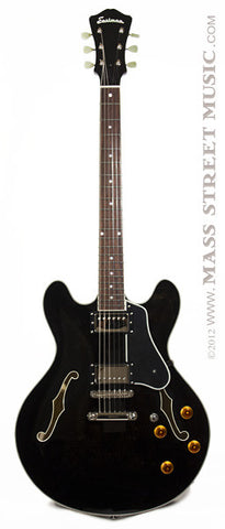 Eastman Electric Guitars - T386BK Thinline - Trans Black