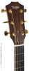 Taylor 510e acoustic guitar - front headstock