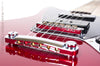 Fender Blacktop Jaguar B90 Red - detail of bridge