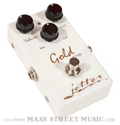 Jetter Gear Gold 45/100 Overdrive pedal - angle