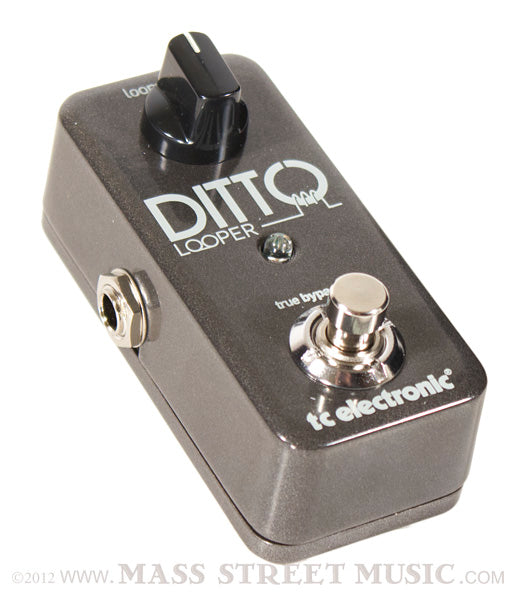 tc electronic ditto looper electric guitar effects pedal mass street music store. Black Bedroom Furniture Sets. Home Design Ideas