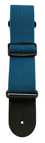 Henry Heller Blue Teal guitar strap canvas