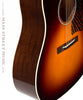 Collings CJ Mha SS SB Custom acoustic guitar detail with side and binding