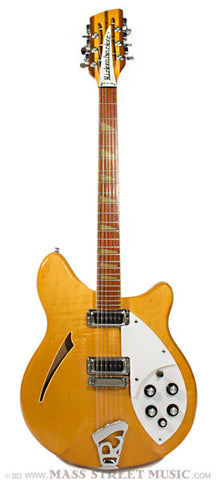 Rickenbacker Electric Guitars - 1988 360/12 - Mapleglo