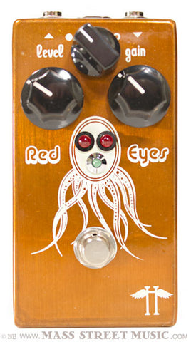 Heavy Electronics Red Eyes Overdrive pedal - top